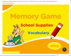 schoool-memory-game